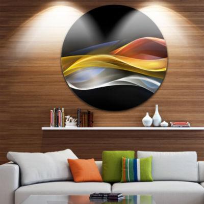 Design Art 3D Gold Silver Wave Design Abstract Circle Metal Wall Art