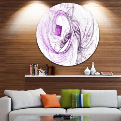 Design Art Billowing Smoke Purple Abstract CircleMetal Wall Art