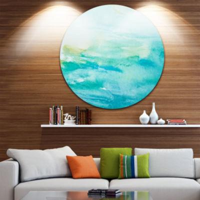 Design Art Abstract Sea Close up Abstract Circle Metal Wall Art
