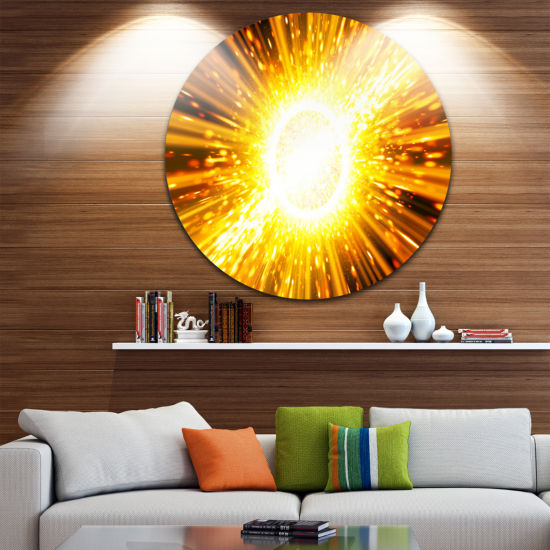 Design Art Bing Bang Explosion Spacescape Circle Metal Wall Art