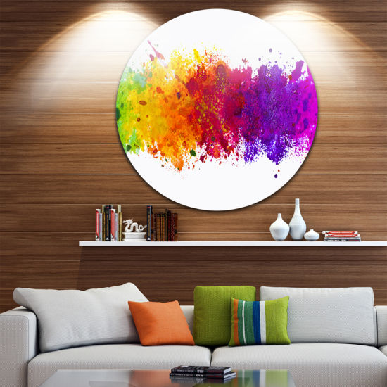 Design Art Artistic Watercolor Splash Abstract Metal Artwork