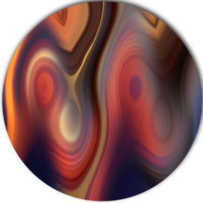 Design Art Beautiful Texture of Colors Large Abstract Circle Metal Wall Art