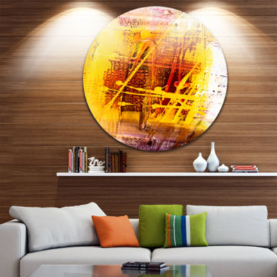 Design Art Abstract Buddha Art Abstract Metal Circle Wall Art