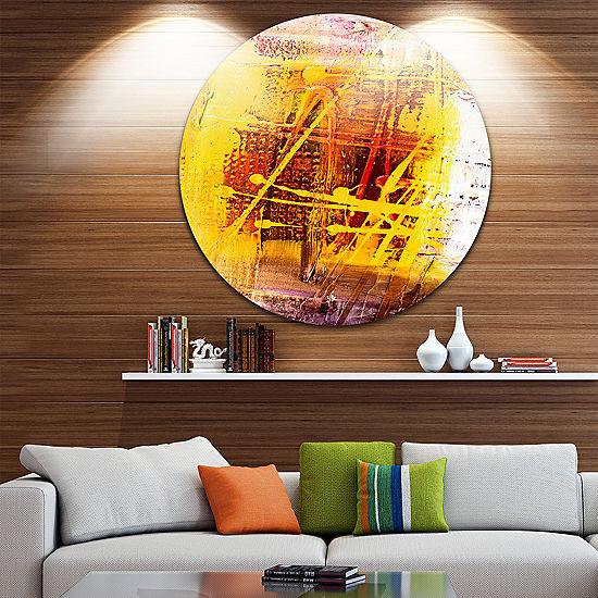 Design Art Abstract Buddha Art Abstract Metal Circle Wall Art - JCPenney