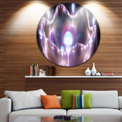 Design Art 3D Surreal Purple Illustration AbstractRound Circle Metal Wall Decor