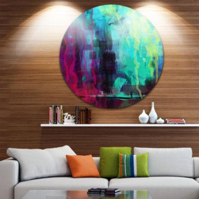 Design Art Abstract Digital Painting Abstract Circle Metal Wall Art
