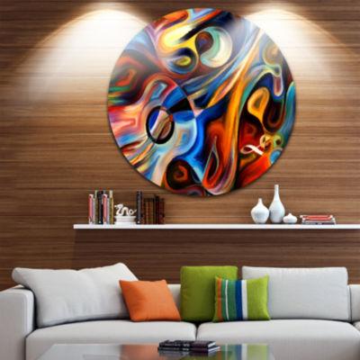 Design Art Abstract Music and Rhythm Abstract Metal Circle Wall Art