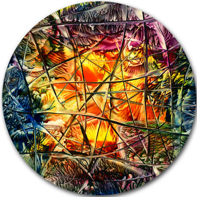 Design Art Amber Abstract Abstract Metal Artwork