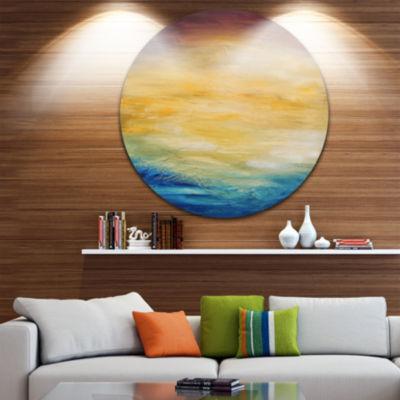 Design Art Abstract Water Sunset Abstract Circle Metal Wall Art