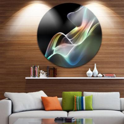 Design Art Abstract Smoke Reflection Abstract Circle Metal Wall Art