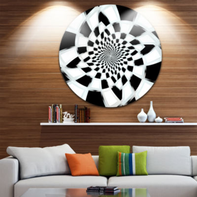 Design Art Abstract Spiral Fractal Design Disc Abstract Circle Metal Wall Art