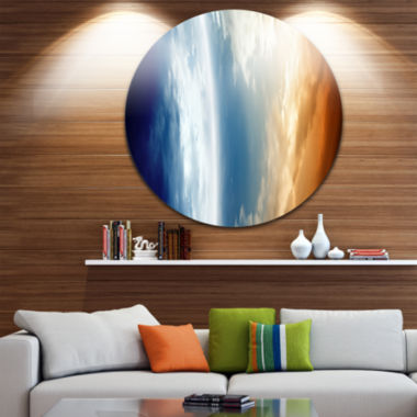 Design Art Abstract Planet in Space Spacescape Circle Metal Wall Art