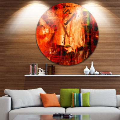 Design Art Abstract Fire Red Abstract Metal Artwork