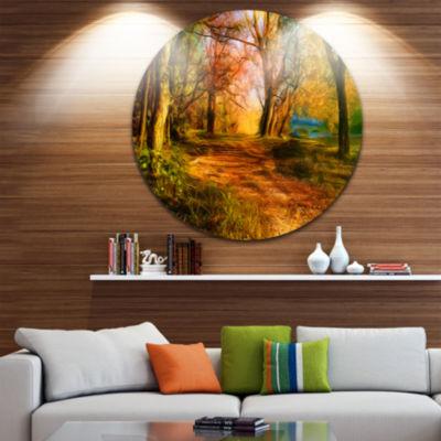 Design Art Beauty of Nature Landscape Circle MetalWall Art