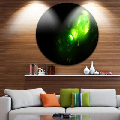 Design Art Air Bubbles Under Water Disc Abstract Circle Metal Wall Art