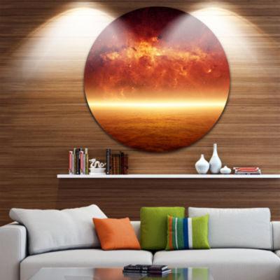 Design Art Apocalyptic Background Spacescape Circle Metal Wall Art