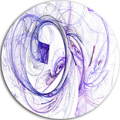 Design Art Billowing Smoke Blue Abstract Circle Metal Wall Art