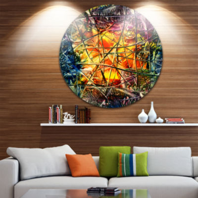 Design Art Amber Abstract Abstract Metal Artwork