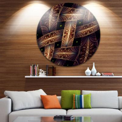 Design Art Beautiful Metallic Braiding Pattern Disc Large Contemporary Circle Metal Wall Arts