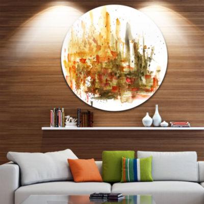 Design Art Abstract Composition Art Abstract MetalCircle Wall Art