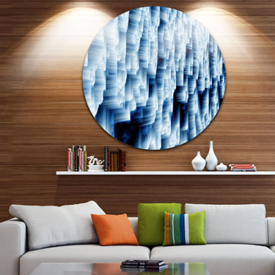 Design Art Abstract Blue Ice Disc Photography Circle Metal Wall Art