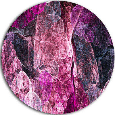 Design Art Abstract Purple Fractal Illustration Abstract Round Circle Metal Wall Decor Panel