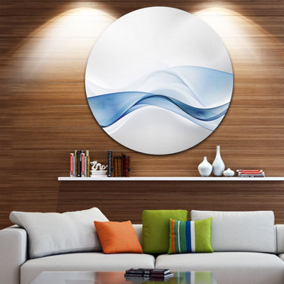 Design Art 3D Wave of Water Splash Abstract CircleMetal Wall Art