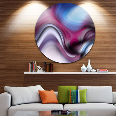 Design Art Beautiful Texture of Blue Purple LargeAbstract Circle Metal Wall Art