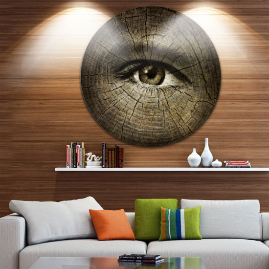 Design Art Aging Eyes Disc Abstract Circle Metal Wall Art