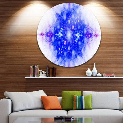 Design Art Blue Illustration Pattern Abstract Circle Metal Wall Art