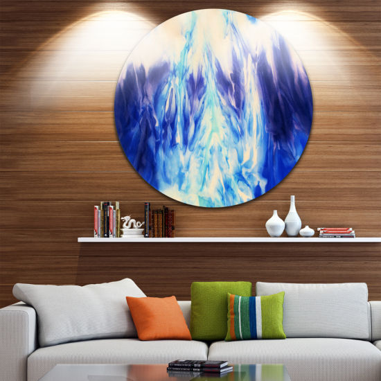 Design Art Blue Life Abstract Circle Metal Wall Art