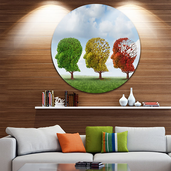 Design Art Brain Aging Disc Abstract Circle MetalWall Art