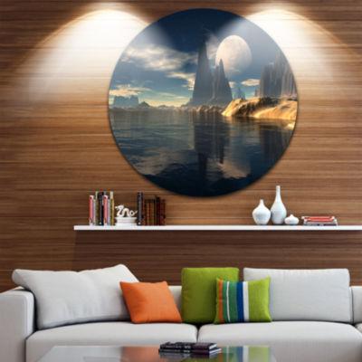 Design Art Antara Alien Planet Disc Photography Circle Metal Wall Art