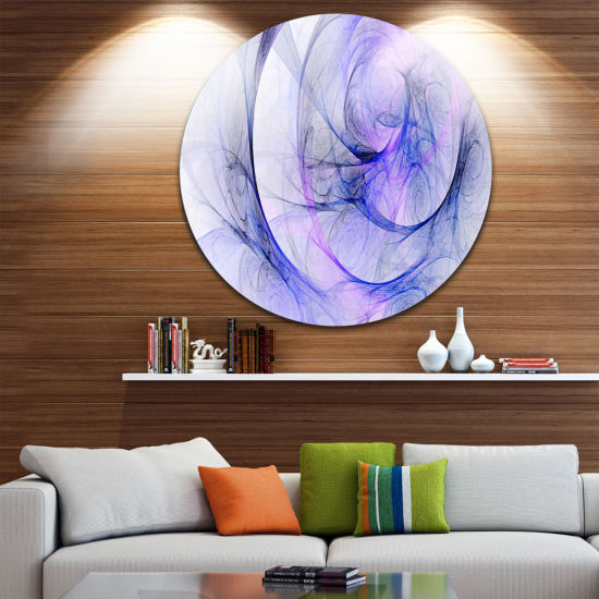 Design Art Blue Storm Sky Disc Abstract Circle Metal Wall Art