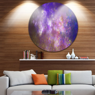 Design Art Blur Fractal Sky with Stars Abstract Round Circle Metal Wall Decor