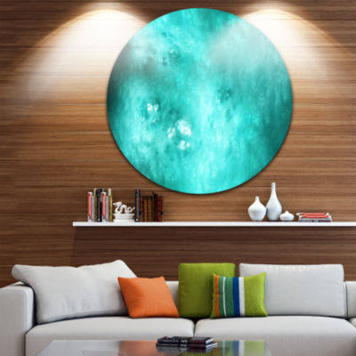 Design Art Blur Blue Sky with Stars Abstract RoundCircle Metal Wall Decor