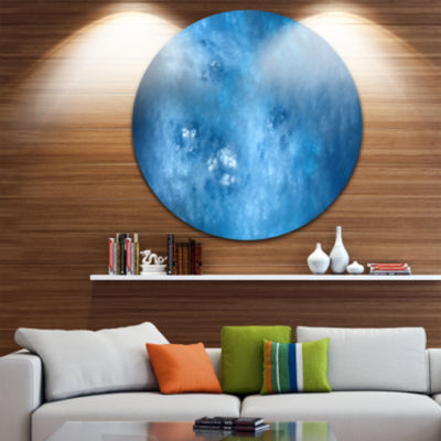 Design Art Blur Clear Blue Sky with Stars AbstractRound Circle Metal Wall Decor