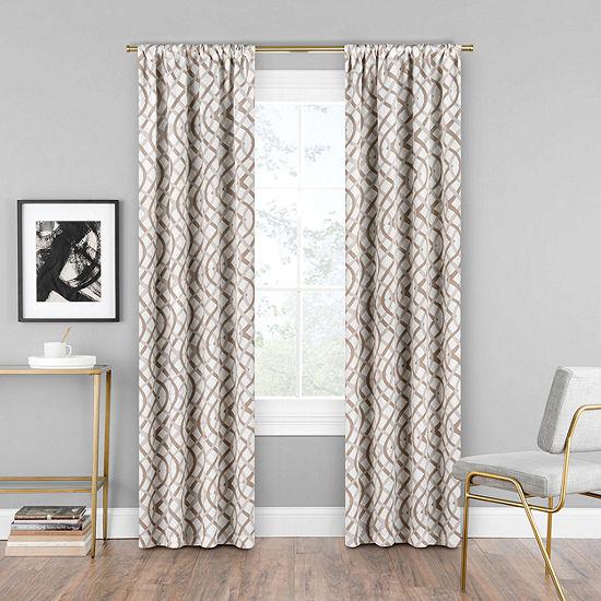 Eclipse Alperton Light-Filtering Rod-Pocket Single Curtain Panel