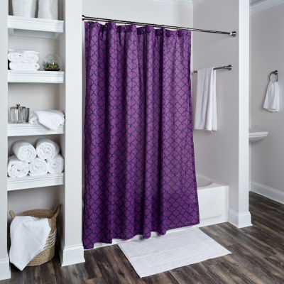 Rizzy Home Bella Cotton Geometric Shower Curtain