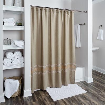 Rizzy Home Merinda Cotton Leaf Shower Curtain