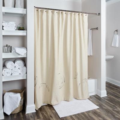 Rizzy Home Nita Cotton Circles Shower Curtain