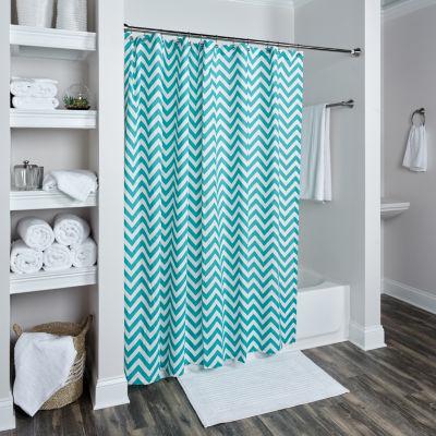 Rizzy Home Elena Cotton Chevron Shower Curtain