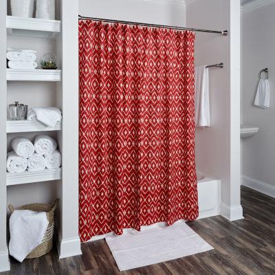 Rizzy Home Elsa Cotton Geometric Shower Curtain