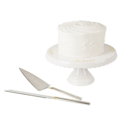 Cathys Concepts Love Cake Stand And Server Set