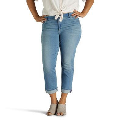 Lee® Cuffed Leg Comfort Waistband Midrise Total Freedom Denim Kilee Crop-Plus