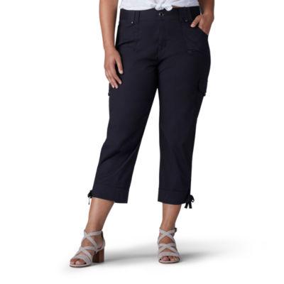 Lee® Relaxed Cinched Leg Comfort Waistband Nikki Poplin Cargo Crop - Plus