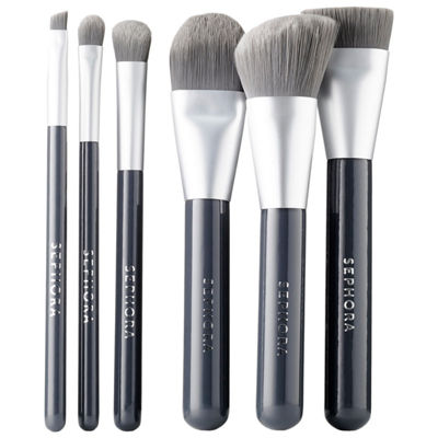 SEPHORA COLLECTION Deluxe Charcoal Antibacterial Brush Set