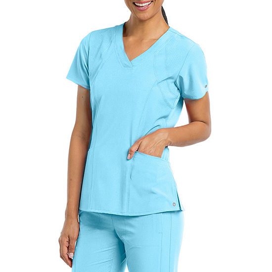Barco® One™ Women's 5105 V-Neck Perforated Detail Performance Scrub Top - Plus
