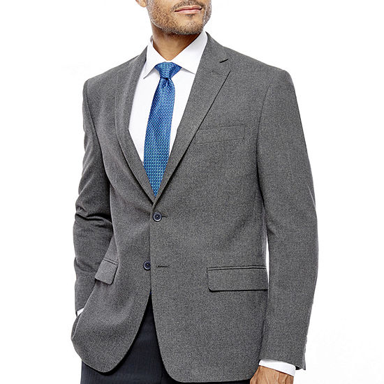 Collection by Michael Strahan Grey Windowpane  Classic Fit Sport Coat