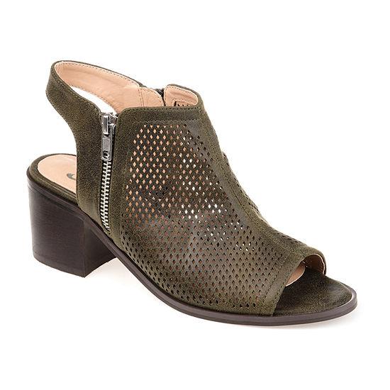 Journee Collection Womens Tibella Booties Block Heel
